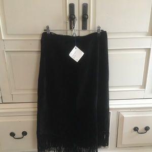 Genuine ZEBRA Leather Fringe Skirt!!